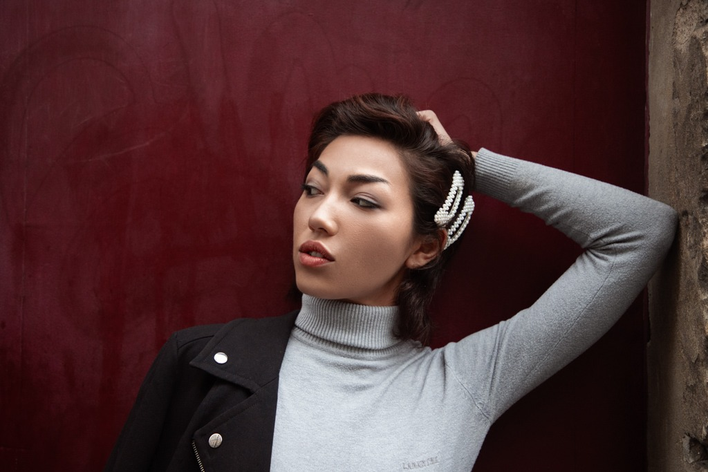 Asian girl fashion portrait