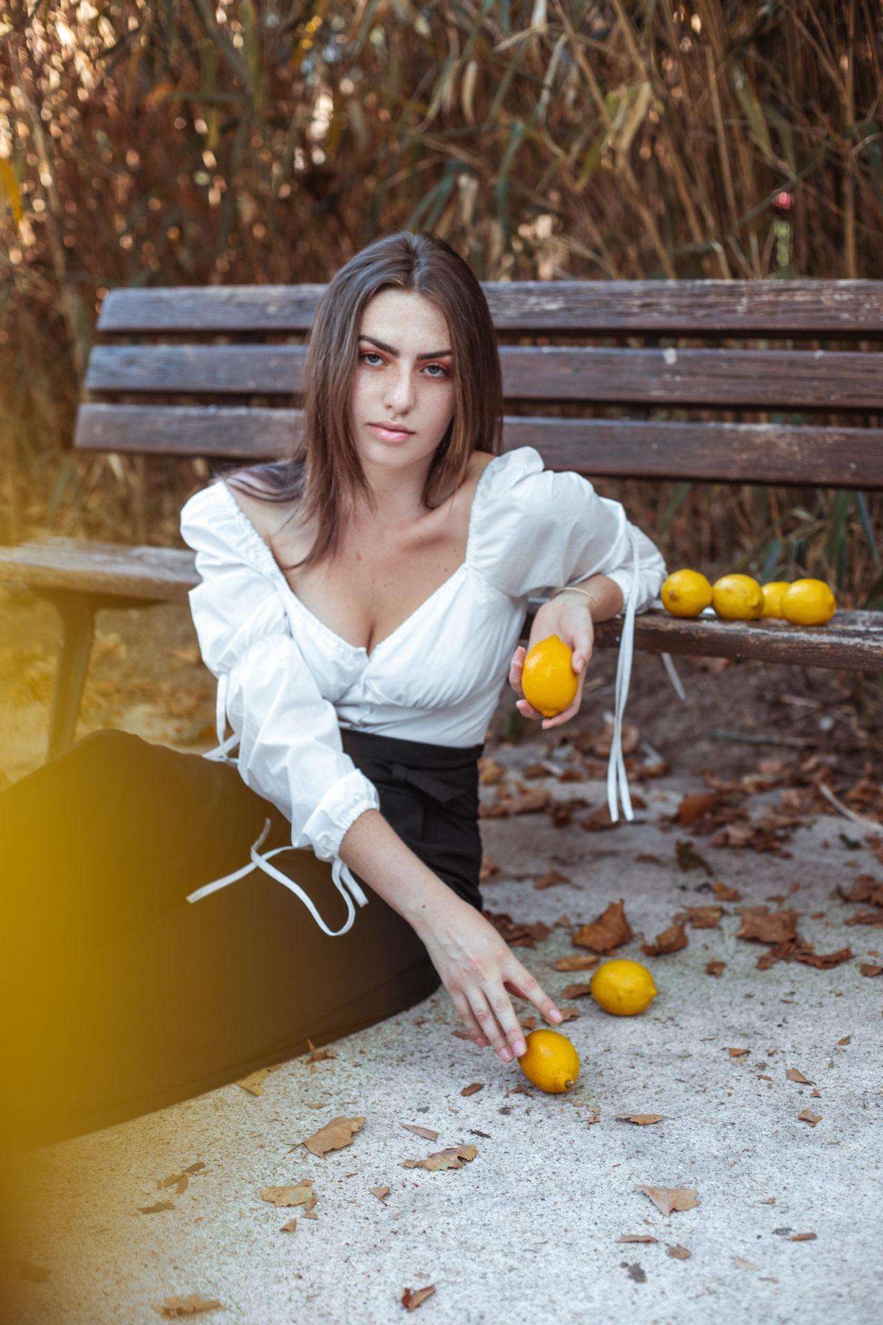 editorial shoot lemon